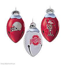 the ohio state buckeyes footbells ornament collection