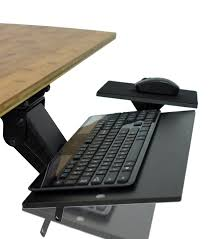 Office Desk With Keyboard Tray Ergonomic Adjustable Angle Keyboard Tray With Negative Tilt