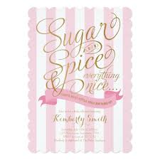baby girl baby shower invitations sugar and spice baby girl baby shower invitation zazzle