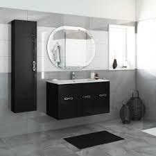 bagno mobile mobile bagno miami nero l 100 cm prezzi e offerte