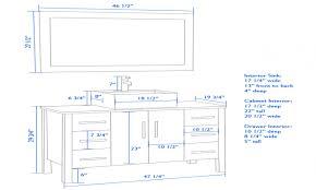 Standard Height Of Bathroom Mirror Bathroom Superb Standard Height Bathroom Vanity 107 Standard