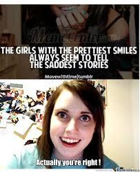 Sad Girlfriend Meme - sad smiling girl by zizia meme center