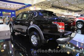 mitsubishi truck 2015 mitsubishi triton exceed black rear three quarters left at the