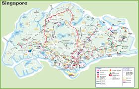 Printable Map Of New York City by Large Transport Map Of Singapore