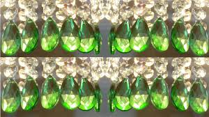 Glass Crystal Chandelier Drops 24 Emerald Green Chandelier Drops Glass Crystals Droplets Retro