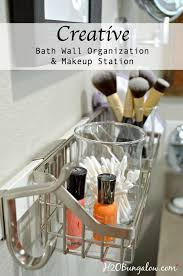 Creative Bath Wall Organization Tips  H20Bungalow