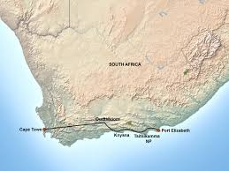 Port Elizabeth South Africa Map by Garden Route Self Drive Tour Jenman African Safaris