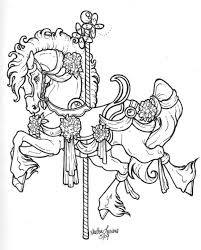 carousel horse coloring free coloring pages art coloring