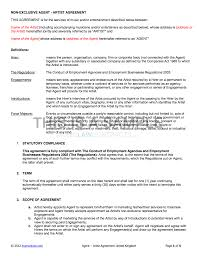 Sample Contract Letter Agency Artist Contract Template Uk Use Only