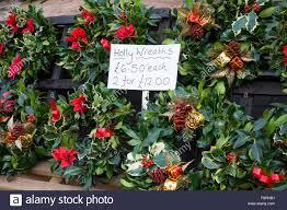 wreaths on sale at bridgnorth market shropshire