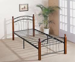 Wood And Metal Bed Frames Wood And Metal Bed Frame Na Ryby Info