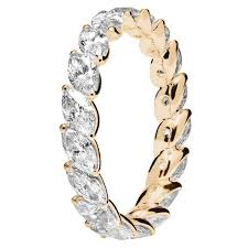 eternity ring renesim navette cut diamond gold eternity ring for sale at