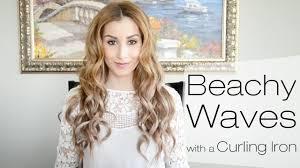 beachy waves hairstyle for everyday using a curling iron fancy
