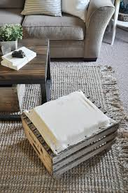 How To Make A Coffee Table Ottoman Apple Crate Ottoman Little Glass Jar