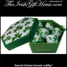 shamrock ornaments boxed set