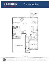 Dr Horton Summit Floor Plan Devonforde Estates Homes For Sale The Hampshire Model New