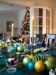 table decoration for christmas table decorating ideas with dining table