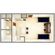 Studio Apt Floor Plan by Room Types