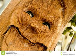 animated tree with a stock image image of wood 44735849