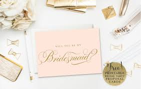 Bridesmaid Invitation Cards 19 Free Printable Will You Be My Bridesmaid Cards