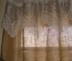 burlap kitchen curtains for sale burlap star lined embroidered