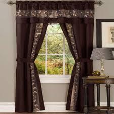 grommet brown sheer curtains u0026 drapes window treatments