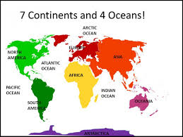 map continents printable 7 continents map of the world