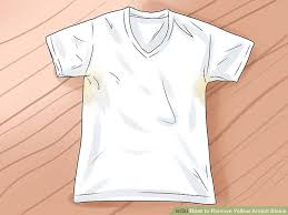 White Shirt Got Other Color With Washing - how to remove yellow armpit stains with pictures wikihow