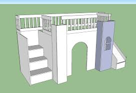 Plans For Making Loft Beds by Ana White Castle Loft Bed Diy Projects