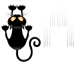 halloween png transparent black cat and scratches transparent vector clipart gallery