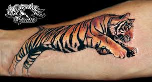 photorealistic tiger by newagetattoo on deviantart