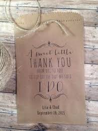 wedding candy buffet brown kraft favor bags calligraphy script