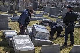 cemetery headstones nearly 100 headstones toppled at philadelphia cemetery