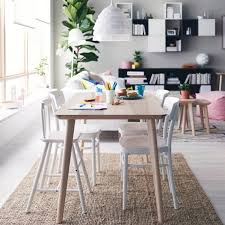 Contemporary White Dining Room Sets - ikea hack dining table white marble tile wall contemporary white