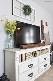 Bedroom Dresser Tv Stand Amazing Best Ideas About Dresser Tv Stand Diy Gallery And Bedroom