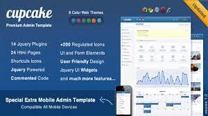 cupcake premium admin template mobile theme website