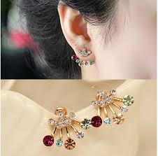 original earrings online cheap unique design fashion butterfly crown temperament