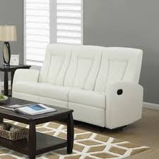 Contemporary Reclining Sofa With Topstitch by Cognac Leather Reclining Sofa Wayfair