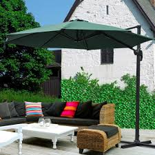 Sunbrella Replacement Canopy by 10 U0027 Deluxe Patio Hanging Roma Offset Umbrella Outdoor Cantilever