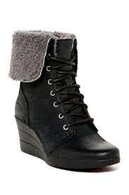 womens wedge boots australia ugg australia zea waterproof genuine shearling lined wedge boot