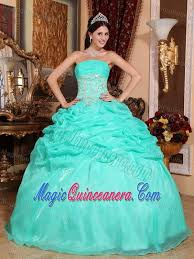 quinceanera dresses 2014 appliques ups organza quinceanera gown dresses in turquoise