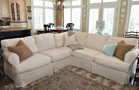 elegant slipcovered sectional sofa sofa ideas