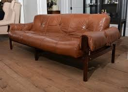 Mid Century Modern Leather Sofa 1960 S Mid Century Percival Lafer Leather Sofa With