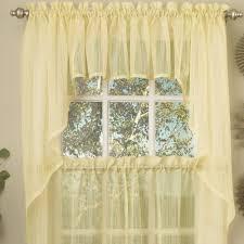 Sheer Swag Curtains Valances Harmony Semi Sheer Tier Window Treatment