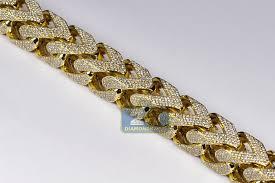 chain bracelet with diamonds images Mens diamond franco bracelet 10k yellow gold 43 11 ct 410 grams jpg
