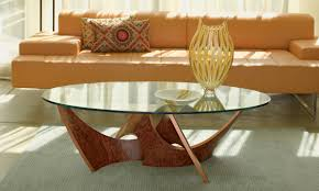 Oval Glass Table Glass Round Coffee Table