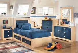 Awesome Attic Kids Bedroom Idea With White Wood Wall Paneling - Youth bedroom furniture ideas