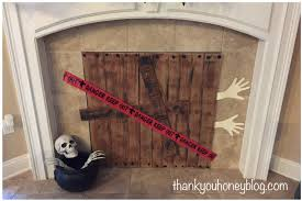 fireplace cover up spooky halloween fireplace cover