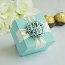 Wedding Candy Boxes Wholesale Baby Blue Wedding Candy Gifts Chocolate Handmade Favors Boxes With