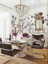 Chandelier Above Dining Table Alecia Interiors Veranda Magazine Gracie Wallpaper